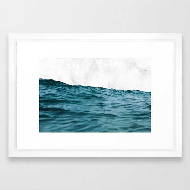 Ocean + Marble #society6 #decor #buyart Framed Art Print by 83 Orangesa(r) Art Shop - Vector White - SMALL-15x21 - Society6