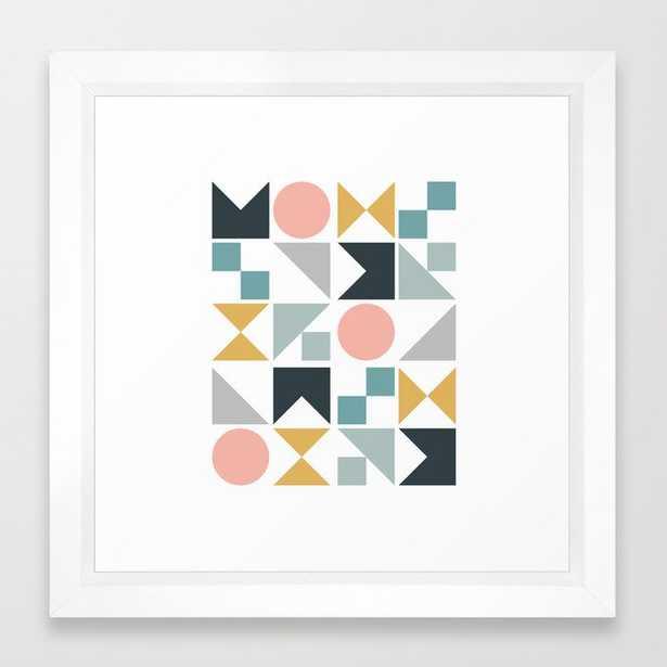 Modern Geometric 09 Framed Art Print by The Old Art Studio - Vector White - X-Small-12x12 - Society6