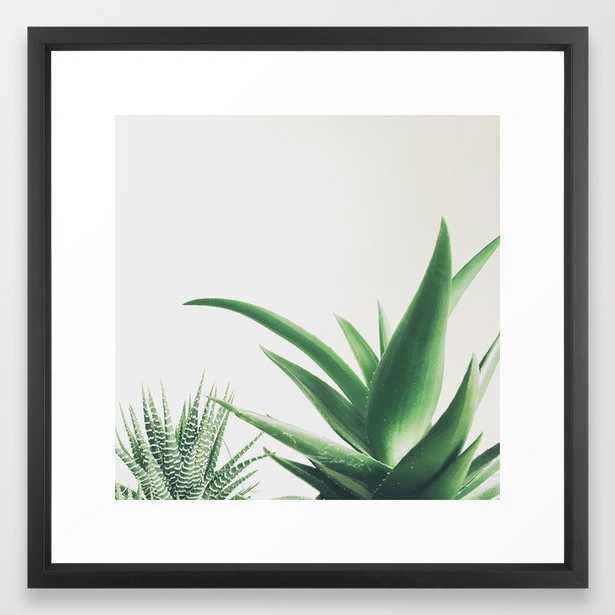 Succulents Framed Art Print by Cassia Beck - Vector Black - MEDIUM (Gallery)-22x22 - Society6