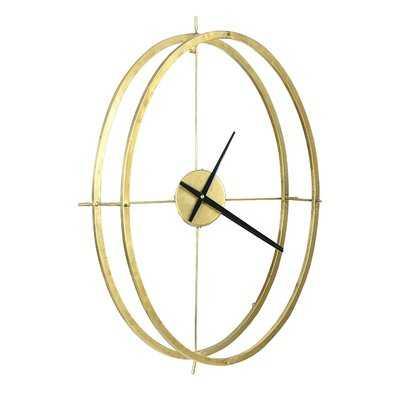 "Double Frame Round 22.88"" Wall Clock - Wayfair"