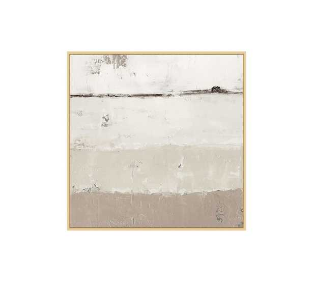 """Out to Sea Framed Canvas, Neutral, Small - 28"""" x 28"""" - Pottery Barn"""