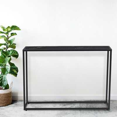 """Sofa Sidetable , Minilalist Porch Table, Console Table, Marble Aboards Panel, Metal Legs, Rectangle 41.73"""" L - Wayfair"""