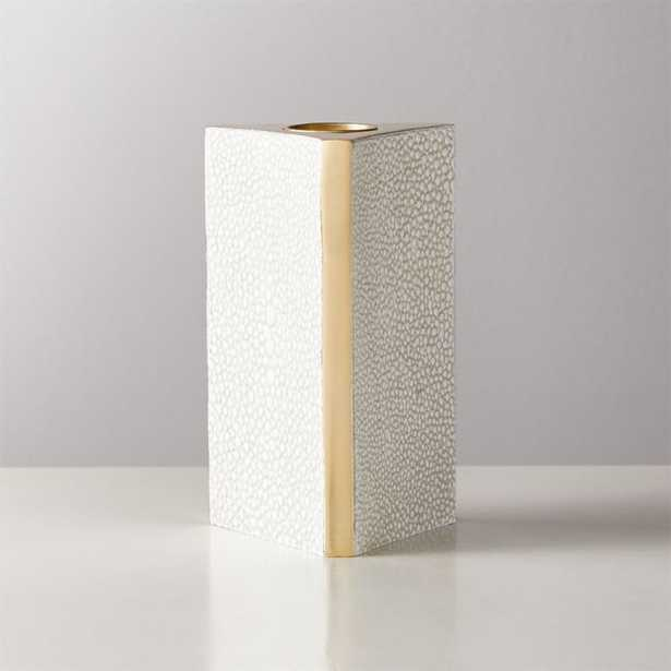 Shagreen Ivory Taper Candle Holder Small - CB2