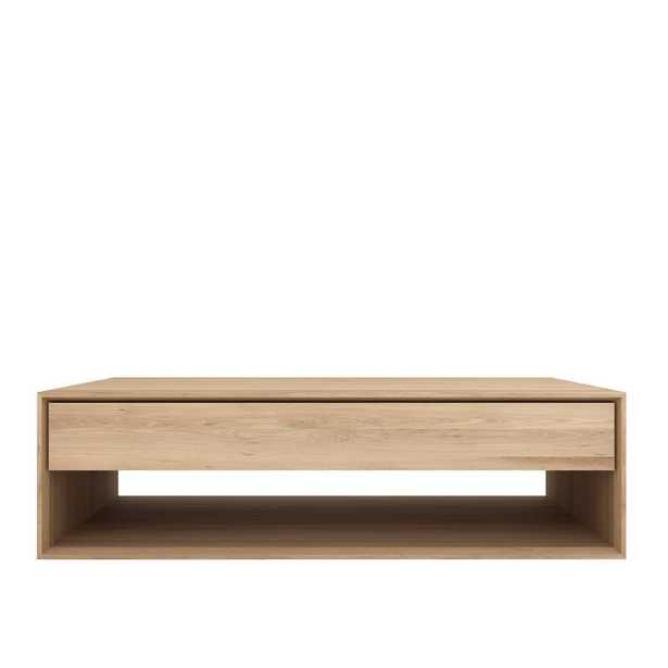 """Ethnicraft Nordic Coffee Table with Storage Size: 13.78"""" H x 47.24"""" L x 27.56"""" W - Perigold"""