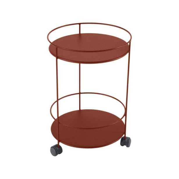 Fermob Guinguette Steel Side Table Color: Red Ochre - Perigold