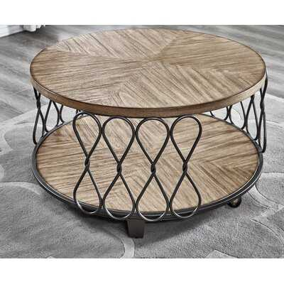 Aritzel Drum Coffee Table with Storage - Wayfair