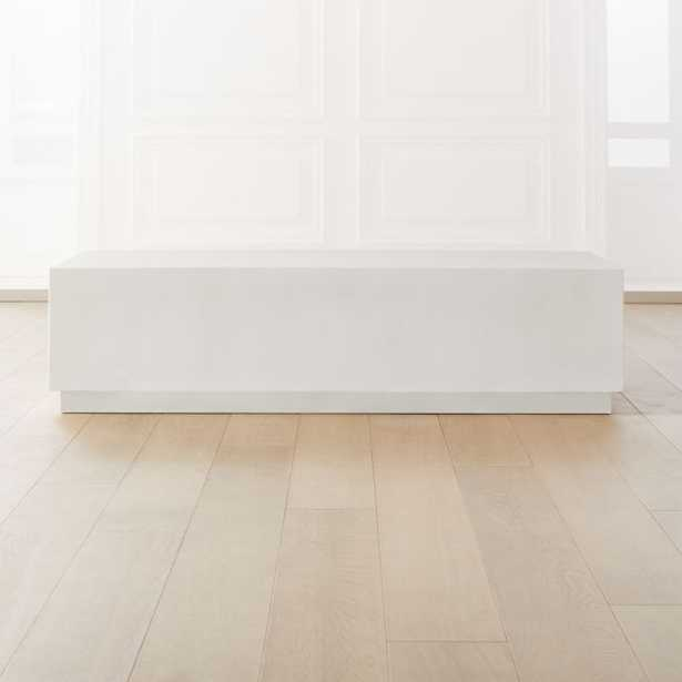 Matter Ivory Cement Rectangle Coffee Table - CB2