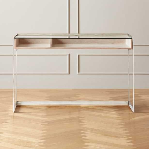 Vista Glass-Top Desk - CB2