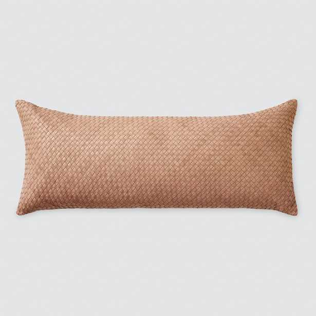 Dhara Leather Lumbar Pillow - 12 in. x 30 in. By The Citizenry - The Citizenry
