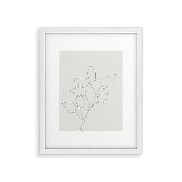 "Floral Study No 5 by Megan Galante - Modern Framed Art Print White 24"" x 36"" - Wander Print Co."