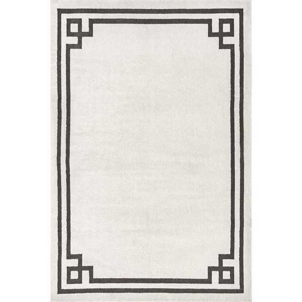 nuLOOM Imani Classic Border Beige 6 ft. 7 in. x 9 ft. Area Rug - Home Depot