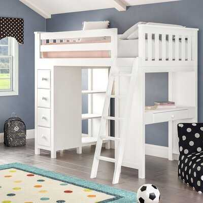 Ayres Twin Loft Bed with Drawers and Shelves - Wayfair