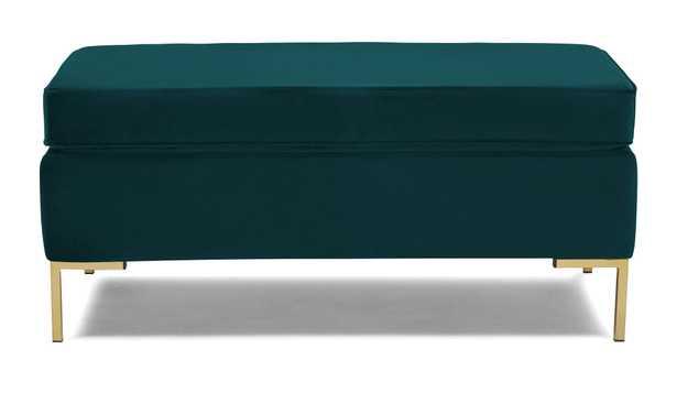 Dee Bench with Storage - Royale Peacock - Joybird