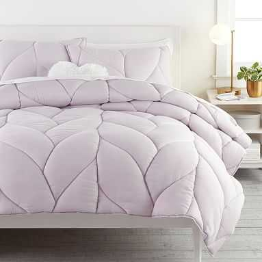 Puffy Comforter, Full/Queen, Dusty Iris - Pottery Barn Teen