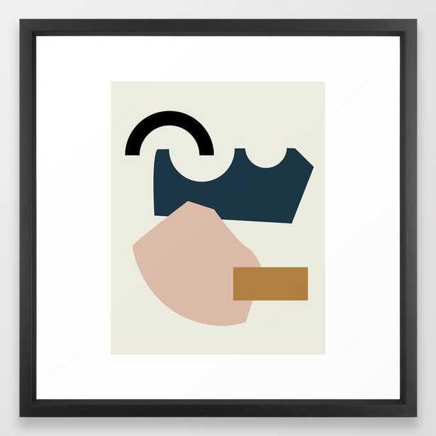Shape Study #29 - Lola Collection Framed Art Print by Mpgmb - Vector Black - MEDIUM (Gallery)-22x22 - Society6