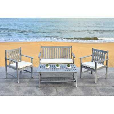 Joliet 4 Piece Loveseat Seating Group with Cushions - Birch Lane
