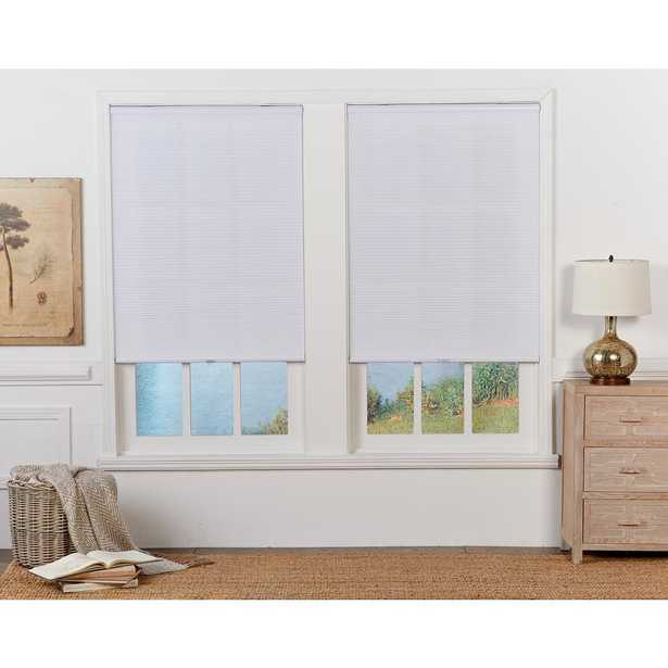 Perfect Lift Window Treatment White 1 in. Cordless Light Filtering Cellular Shade - 36.5 in. W x 64 in. L (Actual Size: 36.5 in. W x 64 in. L ) - Home Depot