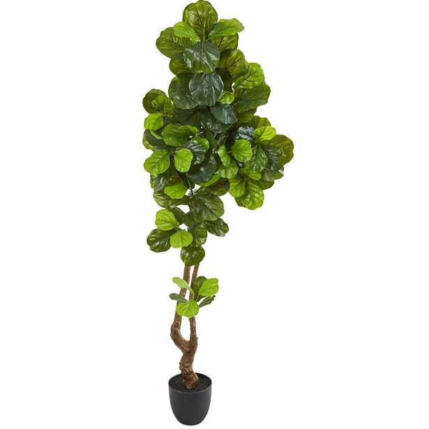 Nearly Natural 78 in. Fiddle Leaf Artificial Tree (Real Touch) - Home Depot