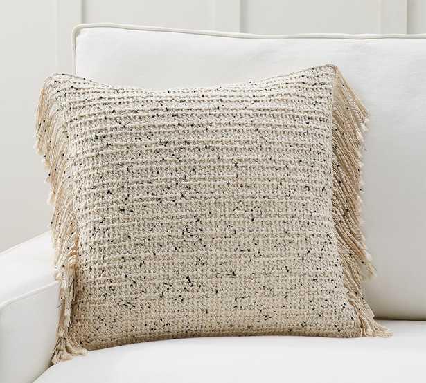 "Nova Pillow Cover, 20 x 20"", Bisque20 - Pottery Barn"