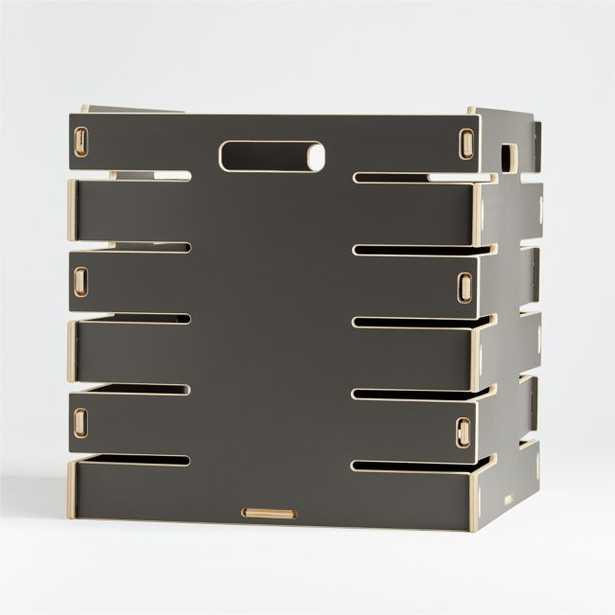 Sprout Large Grey Crate - Crate and Barrel