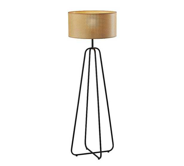 Abacus Cane Floor Lamp, Antique Bronze - Pottery Barn