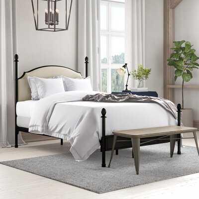 Poneto Upholstered Four Poster Bed - Wayfair