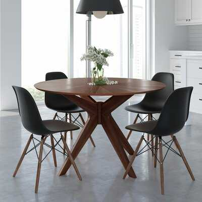 Debord 5 Piece Solid Wood Dining Set - Wayfair