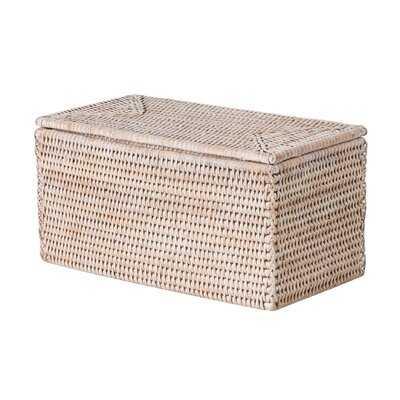 Rectangular Storage and Toilet Roll Box Rattan Basket - Wayfair