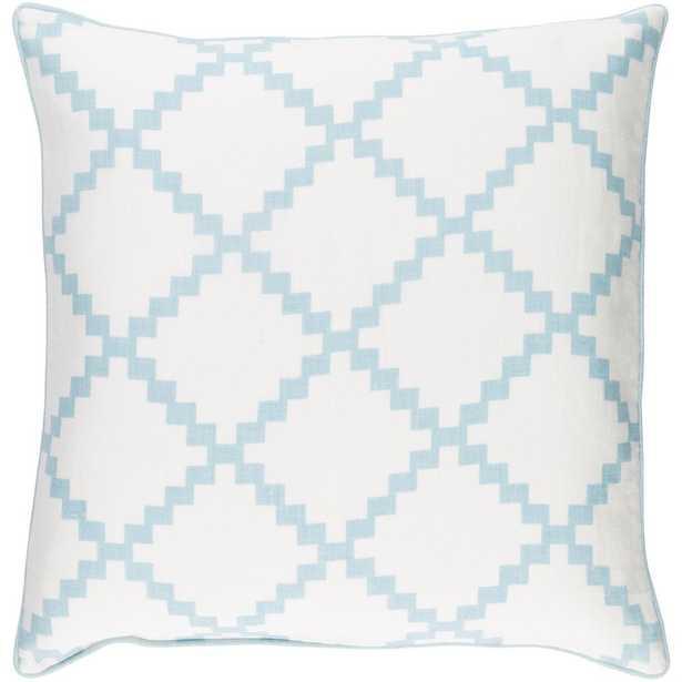 Sibiu Poly Euro Pillow, Light Blue - Home Depot