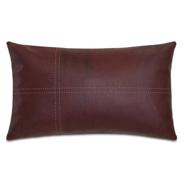 Eastern Accents Theo Faux Leather Lumbar Pillow - Perigold