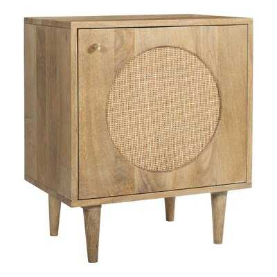 Bailey Solid Wood With Cane 2-Drawer Nightstand - AllModern