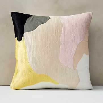 "Abstract Art Palette Pillow Cover, 20""x20"", Citrus Yellow - West Elm"