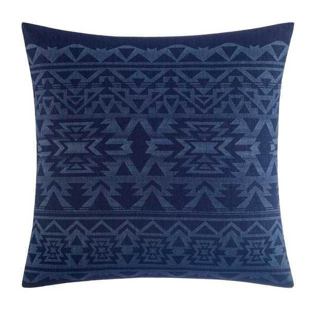 Eddie Bauer Crescent Lake Blue Cotton 20 In Decorative Pillow - Home Depot