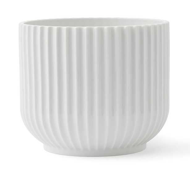 Lyngby White Porcelain Planters, Large - Pottery Barn