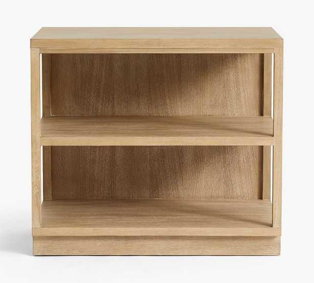 Pacific Double 2-Shelf Bookcase, Fog - Pottery Barn