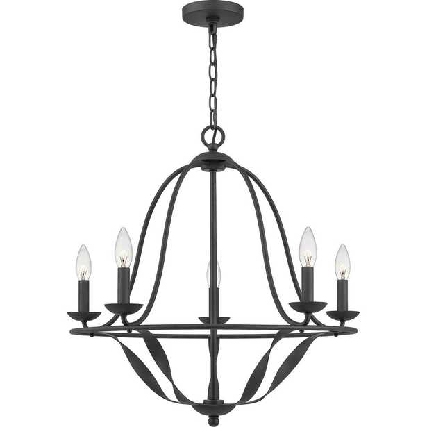 Quoizel Bradbury 5-Light Grey Ash Candle-Style Chandelier - Home Depot