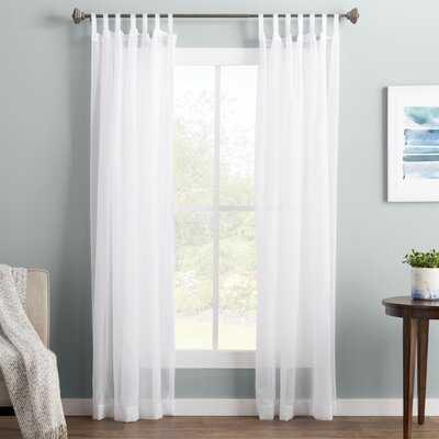 "Wayfair Basics Solid Sheer Tab Top Single Curtain Panel - 95""L - AllModern"