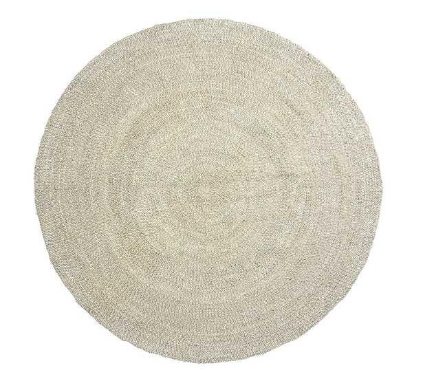Round Braided Jute Rug, 6' Round Braided, Gray - Pottery Barn