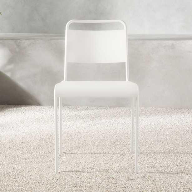 Lucinda White Stacking Chair - CB2