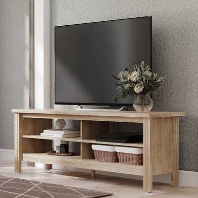 Wampat Farmhouse Wood TV Stands For 65 Inch Flat Screen, Living Room Storage Shelves Oak Entertainment Center, 43 Inch - Wayfair