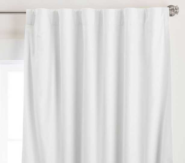 Soothing Sleep Noise Reducing Blackout Curtain, 84 Inches, White - Pottery Barn Kids