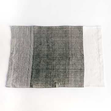 Chesapeake Handwoven Cotton Tea Towel Grey - West Elm