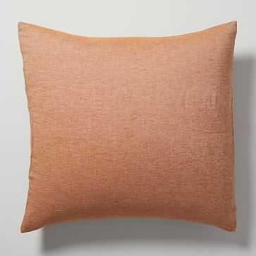 Belgian Flax Linen Melange Euro Sham, Terracotta - West Elm