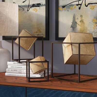 3 Piece Cube Sculpture Set - Wayfair