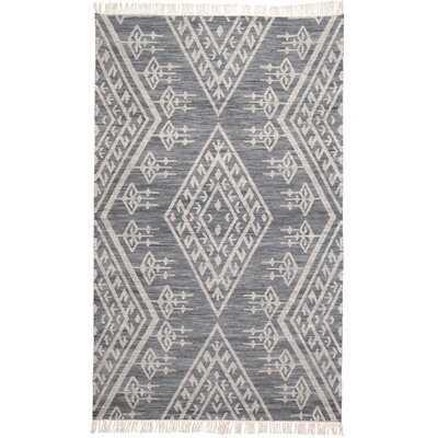 Haught Handwoven Flatweave Wool/Cotton Gray Area Rug - AllModern
