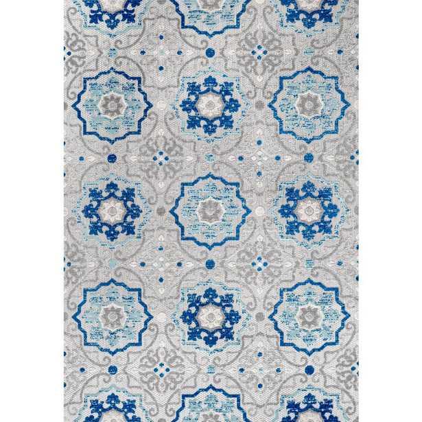 JONATHAN Y Mediterranean Medallion Blue/Gray Indoor/Outdoor 8 ft. x 10 ft. Area Rug - Home Depot