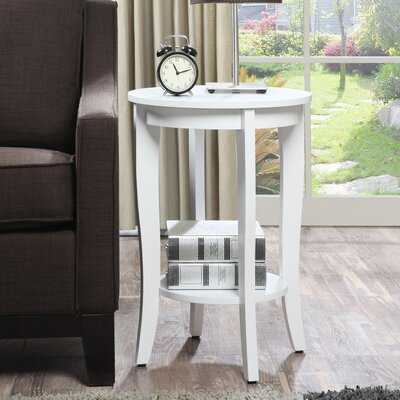 Haines End Table with Storage - Wayfair