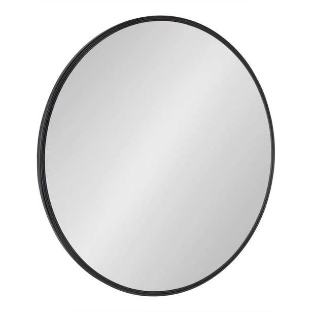 30 inch Kate and Laurel Caskill Round Black Wall Mirror - Home Depot