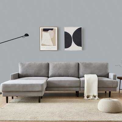 Clarisse 104'' Reversible Corner Sectional with Ottoman - Wayfair