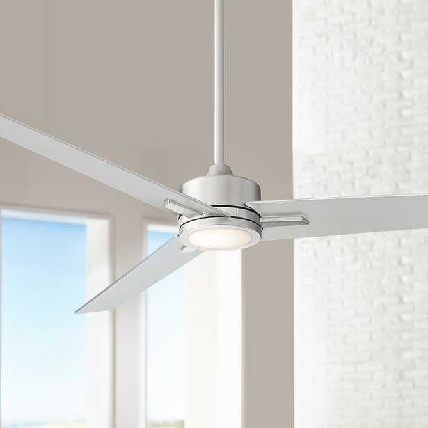 """60"""" Monte Largo Brushed Nickel LED Ceiling Fan - Style # 64M90 - Lamps Plus"""